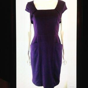 Adrianna Papell Lined Cap Sleeve Sheath Dress